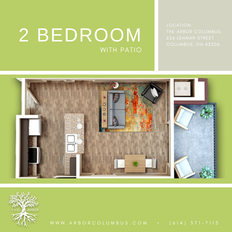 Love Our One Bedroom Studio And Townhouse Layouts Check Out This 2 Bedroom Layout With Patio Comes Stan Apartments Columbus Ohio Luxury Apartments Apartment