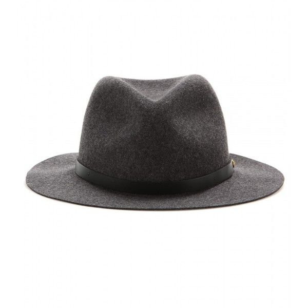 03e3b55102c Rag   Bone Abbot Felted-Wool Fedora (275 AUD) ❤ liked on Polyvore featuring  accessories