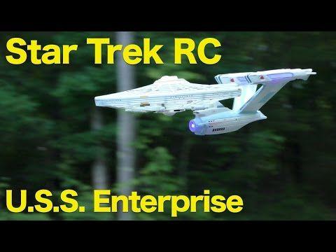 Sounds Air Hogs Star Trek USS Enterprise NCC-1701-A Drone 4 Channel RC w Lights