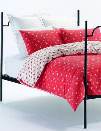 Ditsy Whale Bed Linen In Red Karen, Karen Walker Bedding