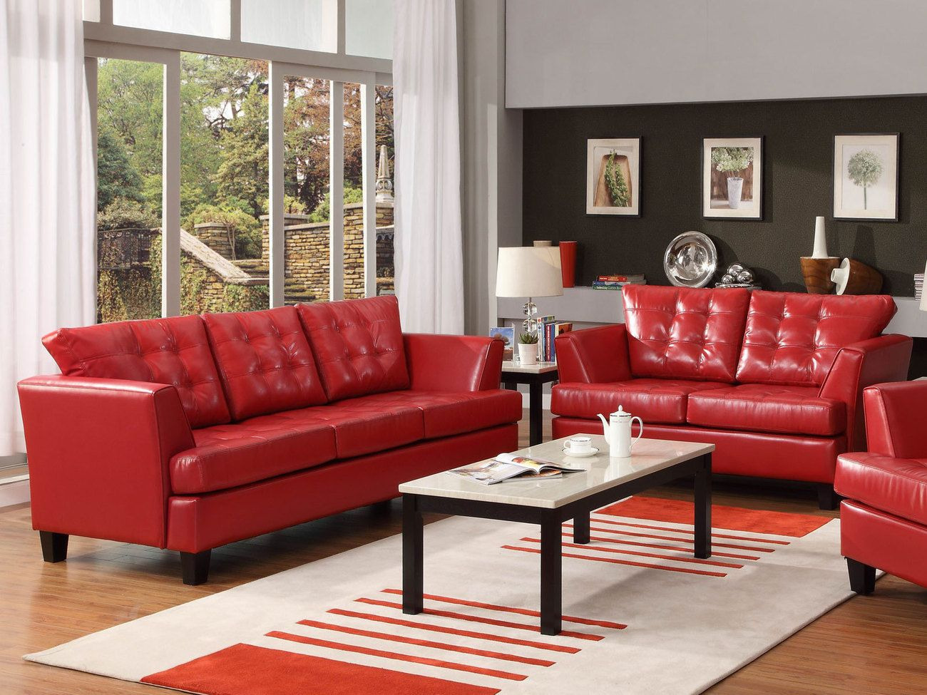 living room ideas with leather furniture%0A Room