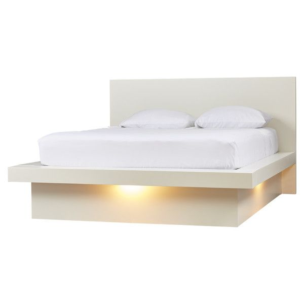 Best Ben Platform Bed With Rail Seating Modern White Bed 640 x 480