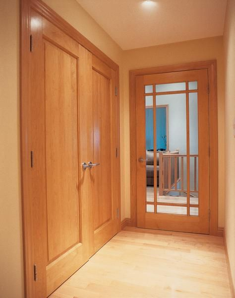 Simpson Interior Door: Cherry Wood In Wheat Finish And Prairie Style  Grilles Create An Elegant Framework For This Contemporary Home Passage Door  (Custom ...