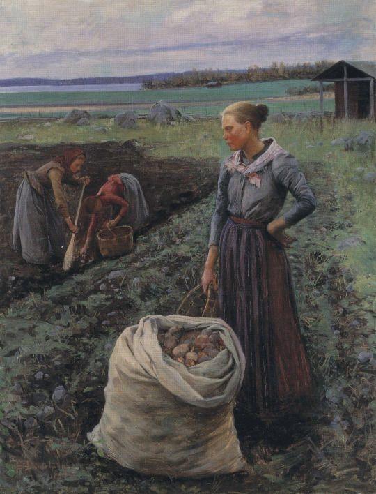 Potato Harvesters, 1893, by Elin Kleopatra Danielson-Gambogi (Finnish,1861-1919)