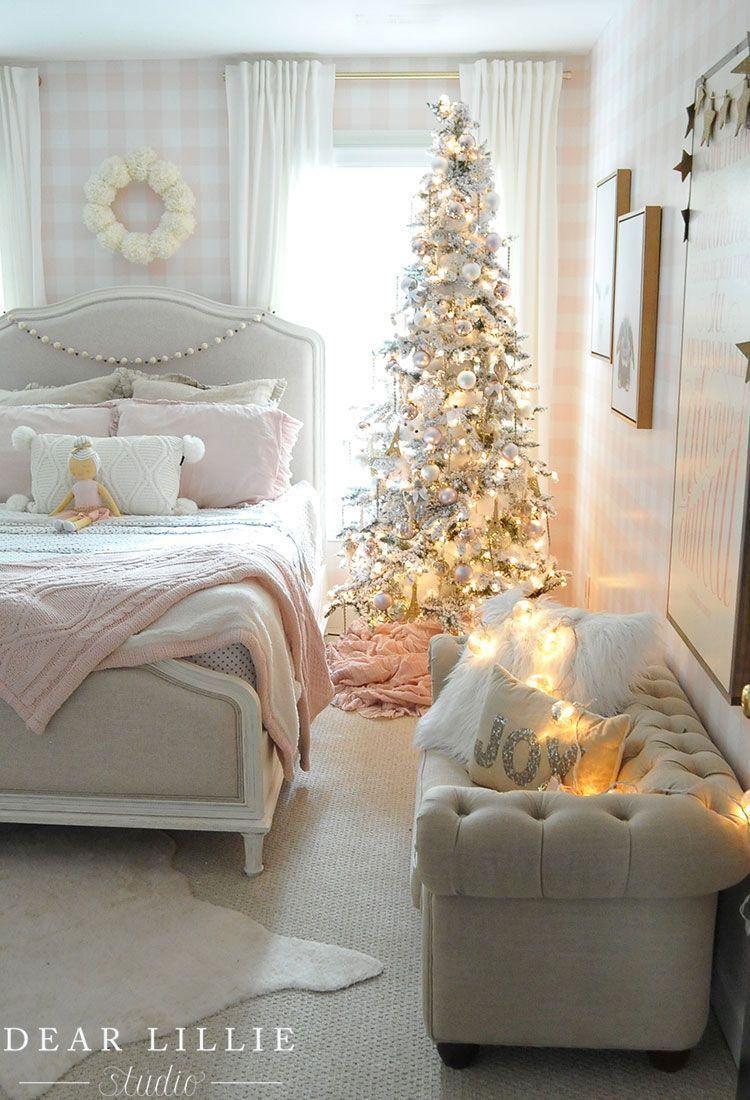 Christmas In Lillie S Room Dear Lillie Studio Christmas Decorations Bedroom Christmas Bedroom Christmas Room Decor