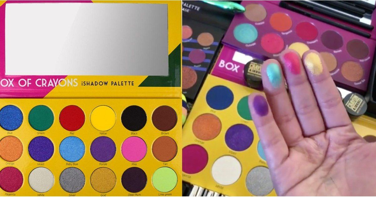 Swatches of This Viral Box of Crayons Palette Are Actually