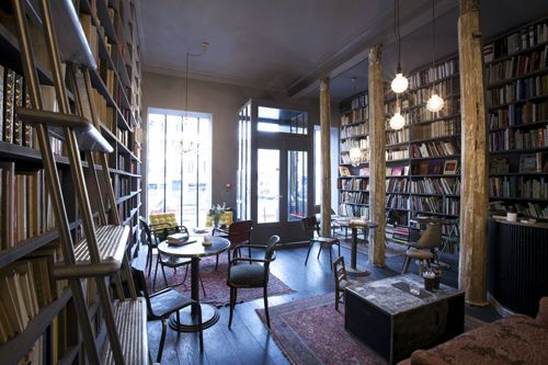 Café-Librairie Merci | Interiors - Libraries | Pinterest | Interiors