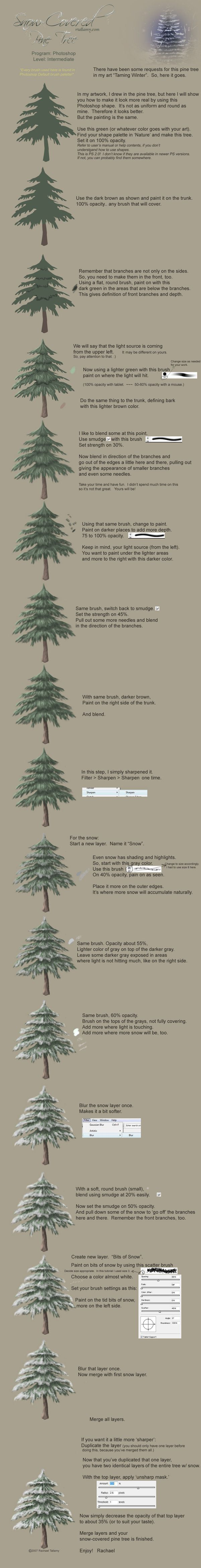 Pine Tree with Snow-Tutorial by Rach-Resources on deviantART