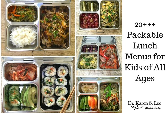 20 Packable Lunch Menus For Kids Of All Ages Packable Lunch School Lunch Recipes Lunch Menu