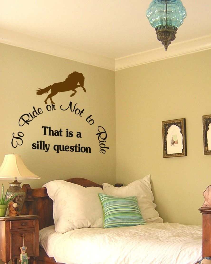 Horse decal-Pony quote wall sticker-Teen girls room decal-Wall words ...