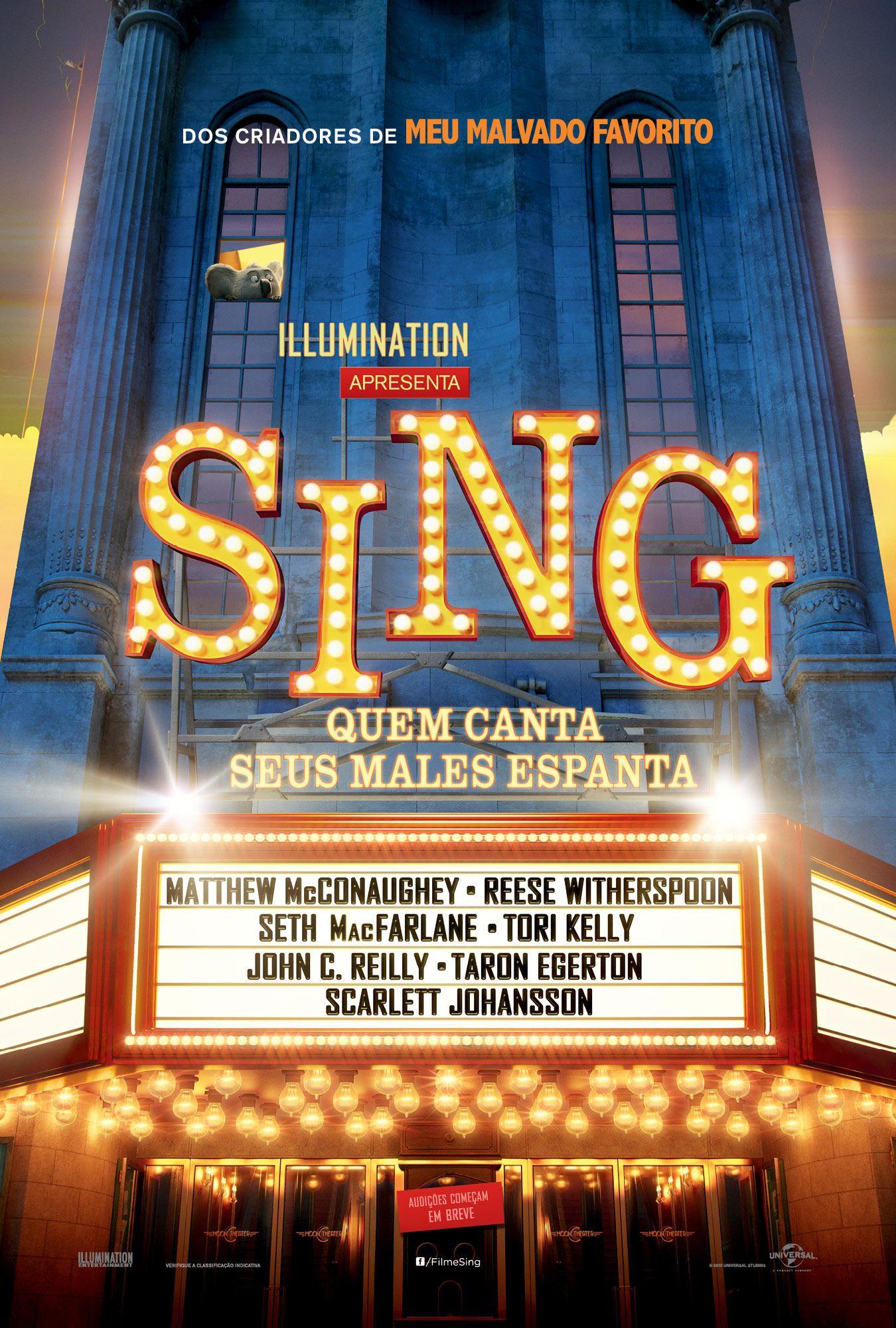 Cartaz De Sing Quem Canta Seus Males Espanta Dezembro Nos