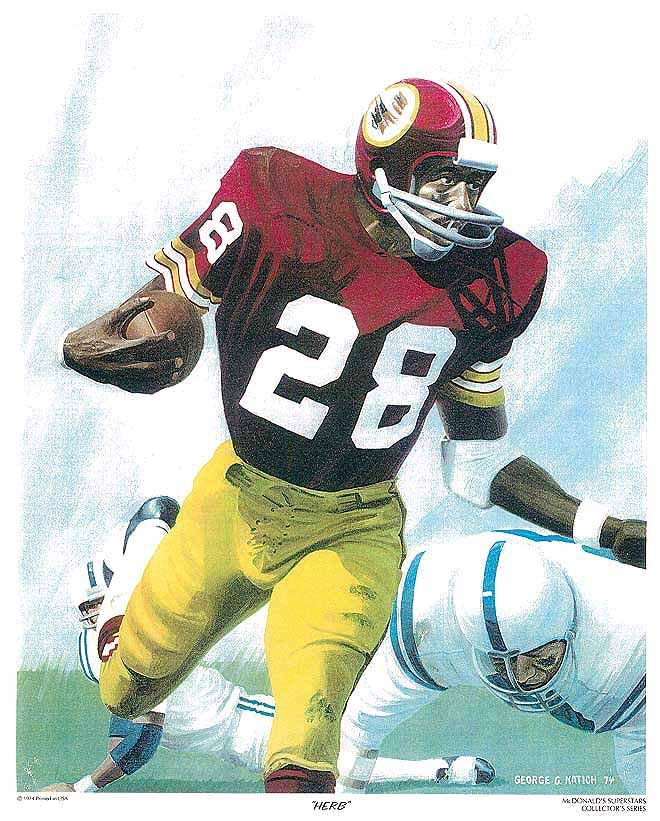 "Herb MulKey, McDonalds 11""x14"" Redskins Poster art by"