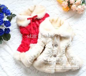 Wholesale Children Clothing - Buy Beautiful Children Fur Coat Girls Princess Ribbon Bow Winter Warm Outwears Kids Overcoats Red Yellow Chris...