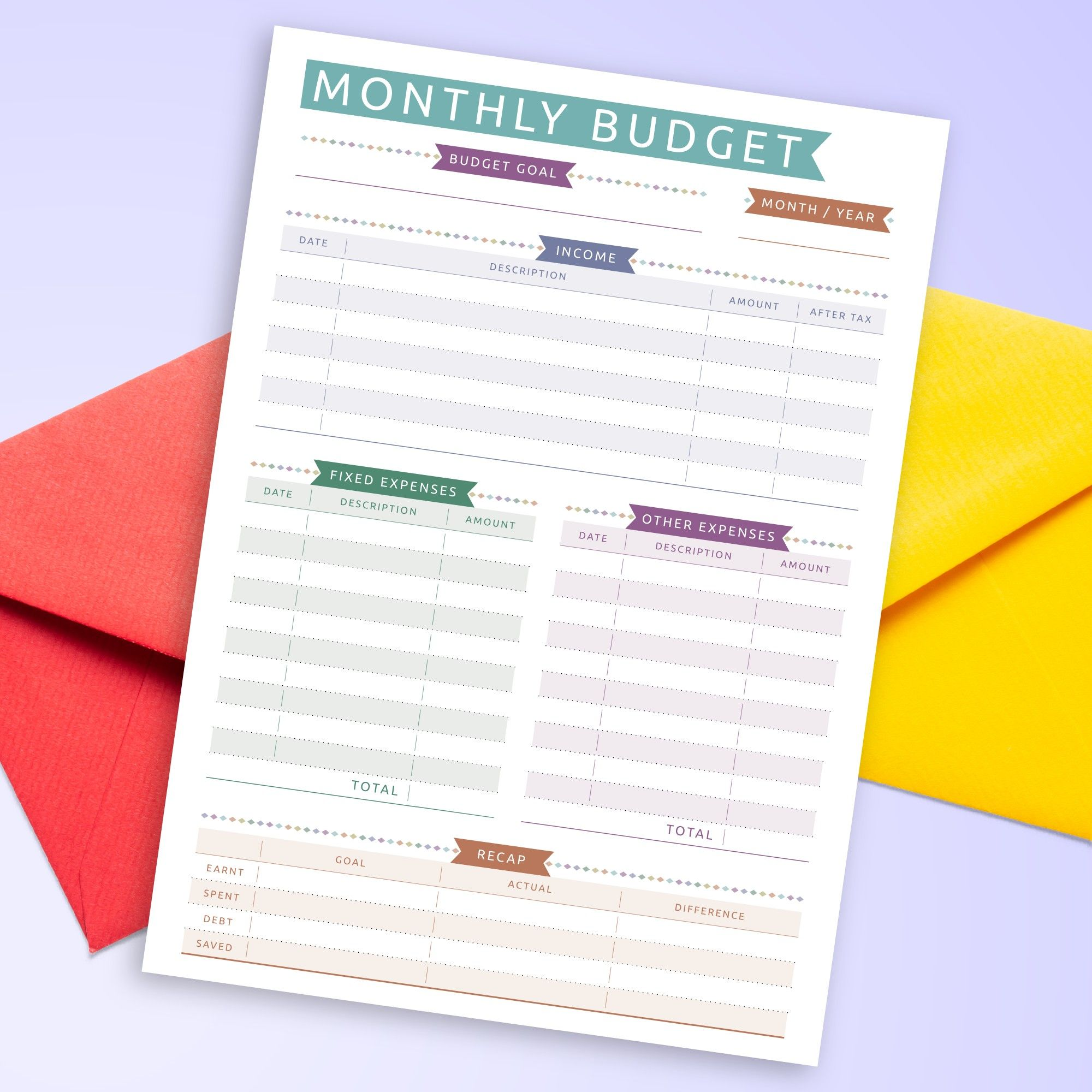 Organize Everything With Printable Finance Planner In