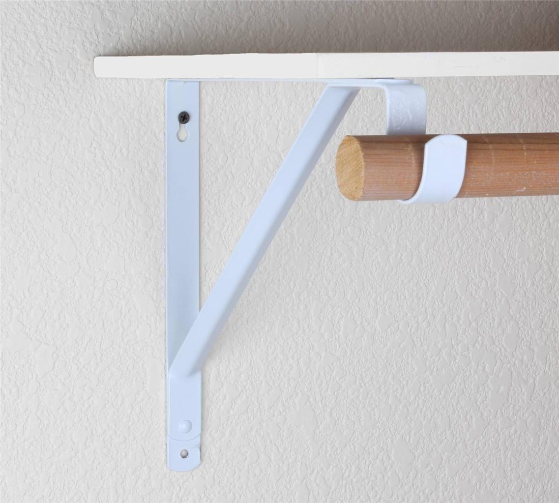 Ideas Closet Rod Bracket For Install Decorative Furniture 1137 X 1023