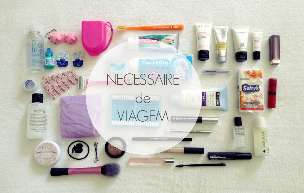 Necessaire de Viagem #3 + Check-list para Download | New in Makeup