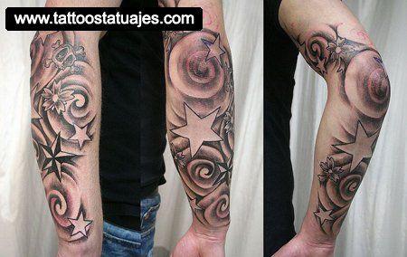 Tatuajes De Estrellas En El Brazo 4 Tatuajes Tattoos Arm