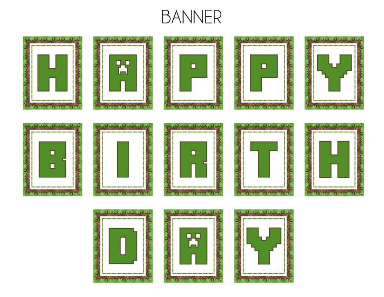 graphic regarding Minecraft Birthday Printable named Absolutely free Printable Minecraft Birthday Invites Totally free