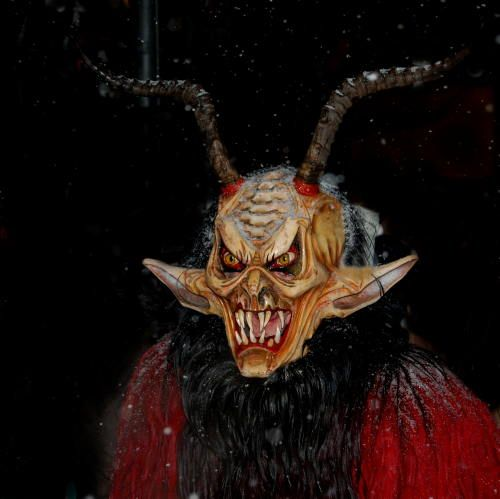 With a stick and metal chains, the Krampus are out to do St Nick\u0027s