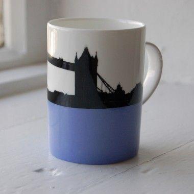 8cb1a7e68f8 Tower Bridge Bone China Mug by Jacky Al-Samarraie. Part of my London  collection - £13.50