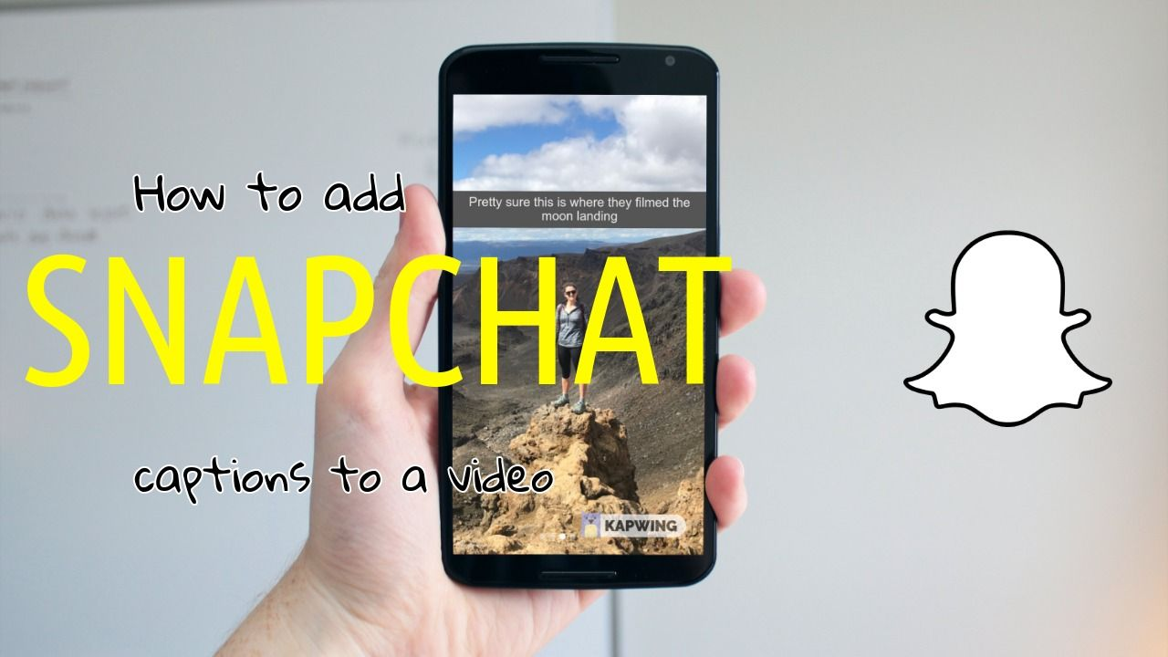How to add a snapchat caption to a video ever wanted to