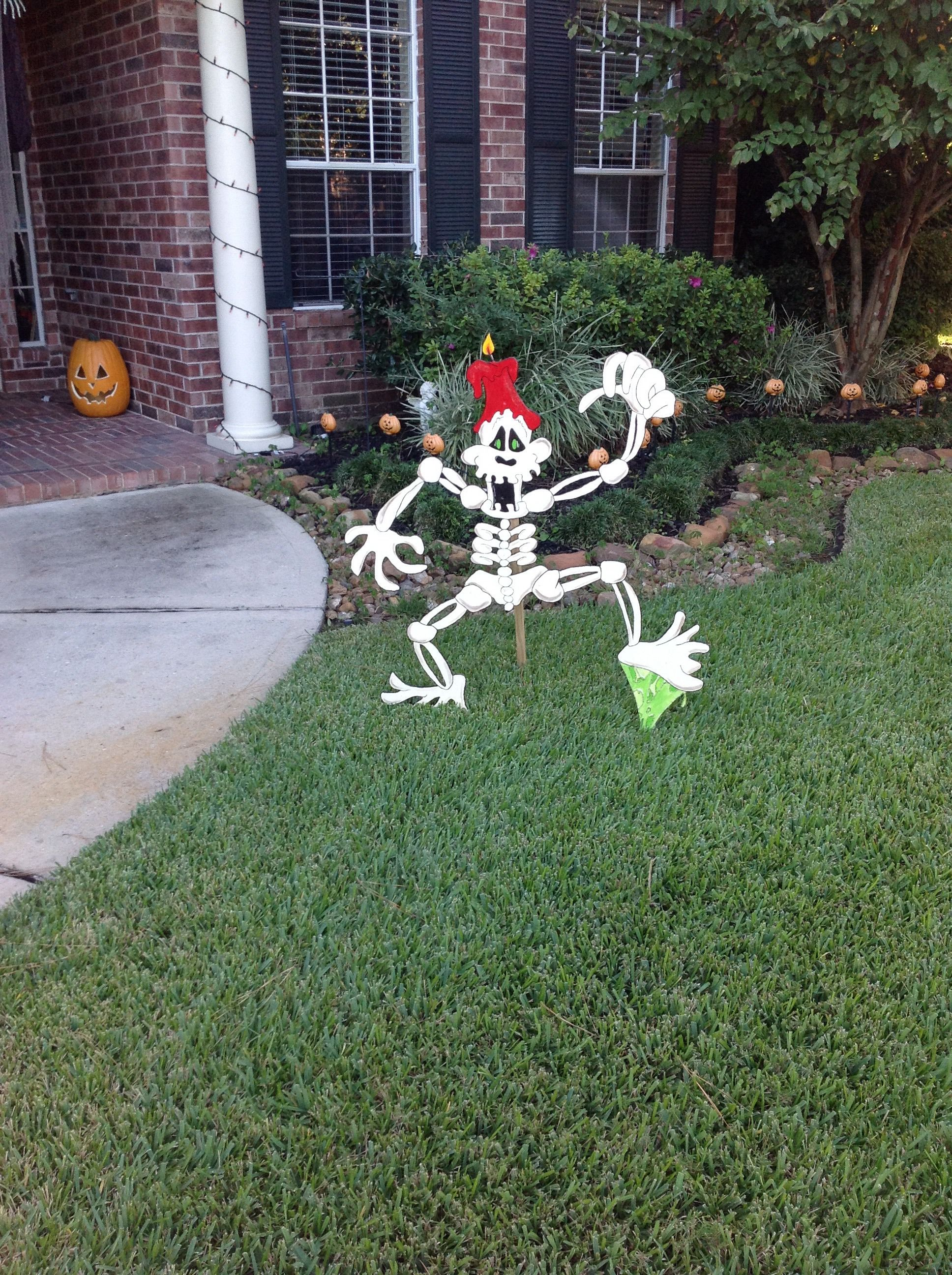 Halloween Deko Holz Skelet Vorgarten Halloween Decoration Wood Skeleton Front Yard Christmas Ornaments Holiday Holiday Decor