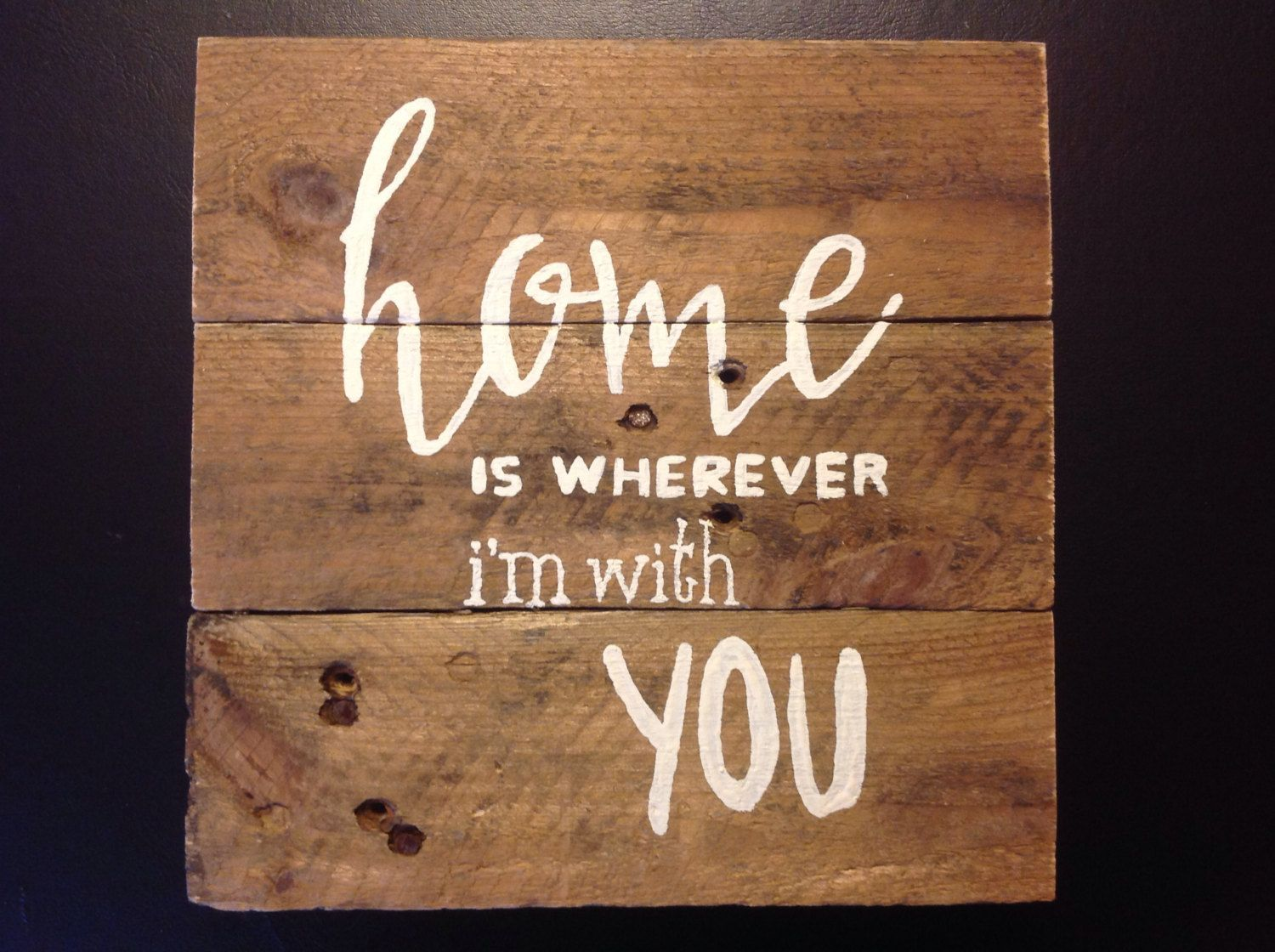 Wooden Home Signs Decor Pleasing Home Is Wherever I'm With You Sign Home Decorations Home Decor Decorating Design