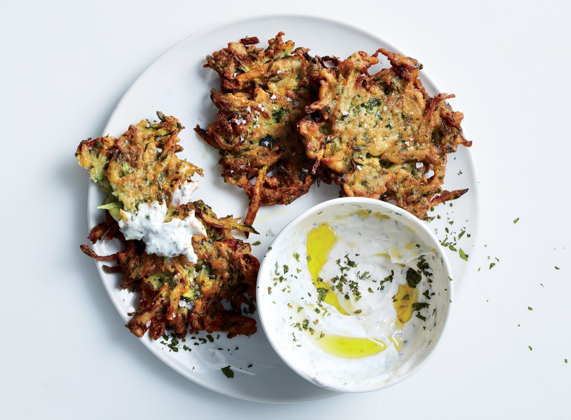 you can carve ina garten's zucchini pancakes recipe onto