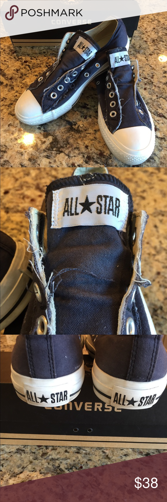 Converse All Star Frayed Black Snickers. | Converse, Converse all ...