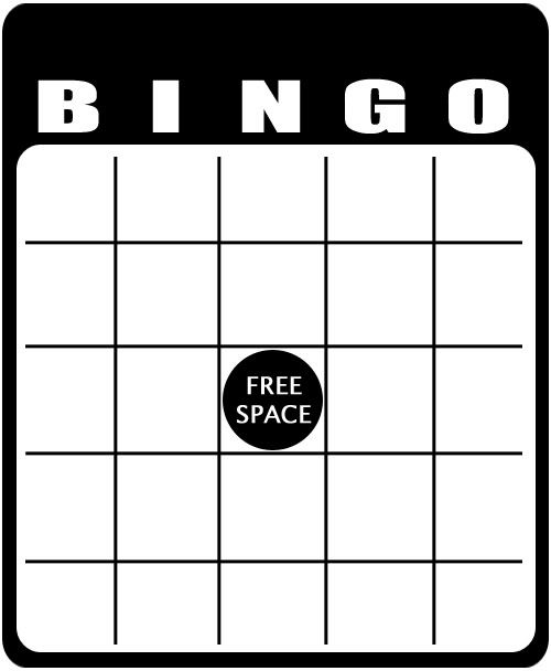 Blank Bingo Templates To Customize  Free Printable Blank Bingo