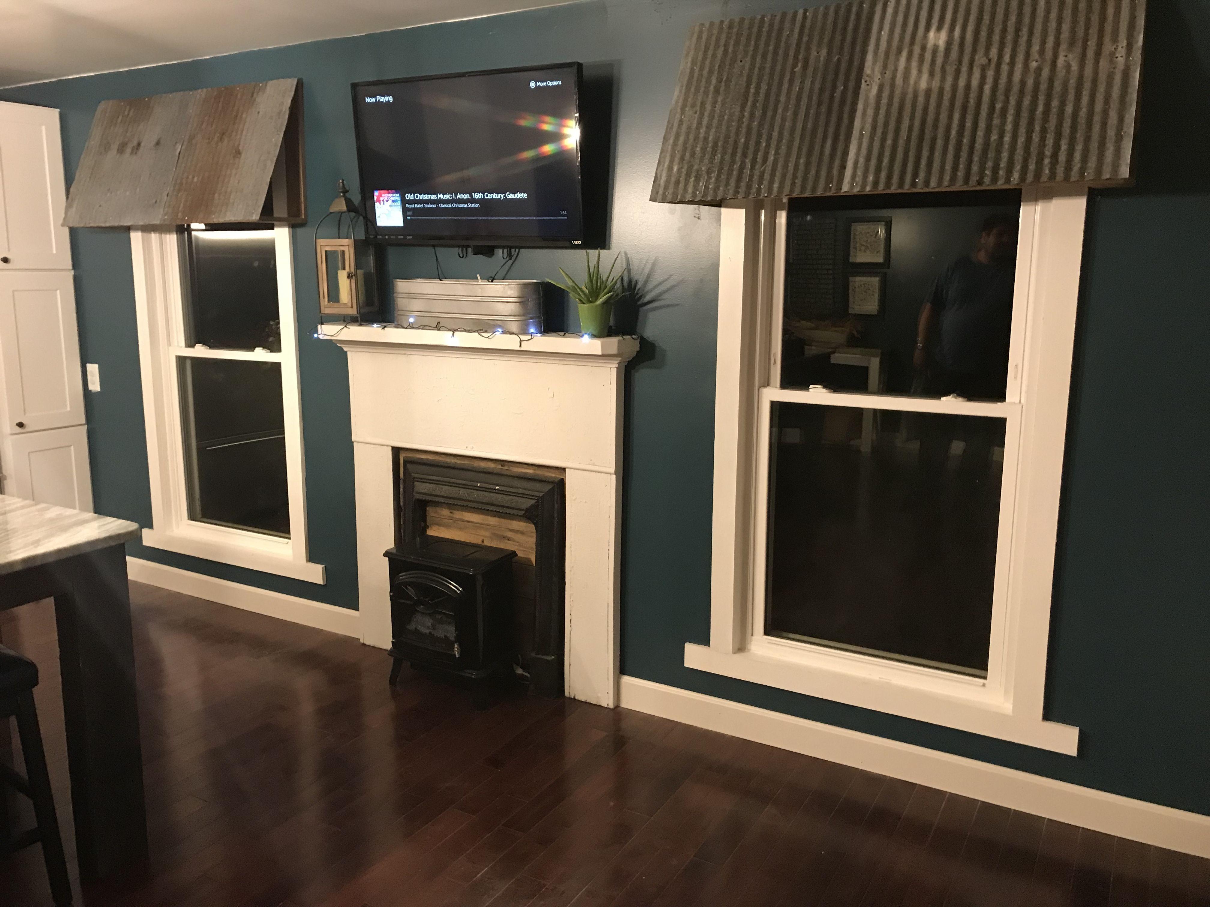 Indoor Galvanized Tin Awning