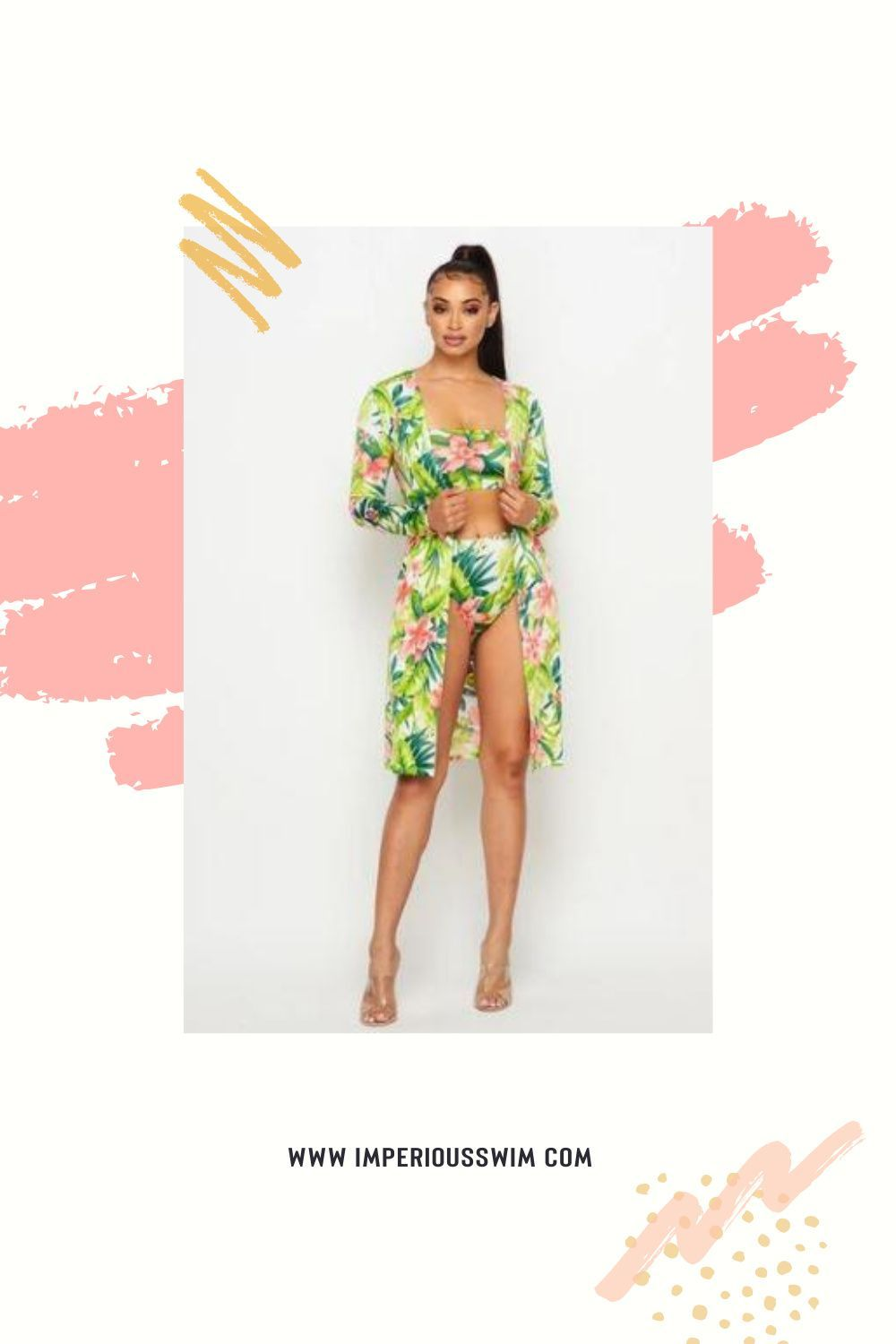 Two piece Swimsuit with Cover up