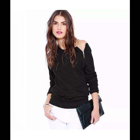 Black zipper shirt Nwot Tops Tees - Long Sleeve