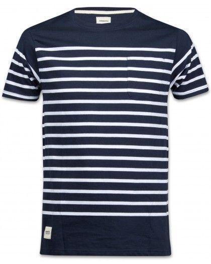 Wemoto Blake Stripe Herren T-Shirt marine