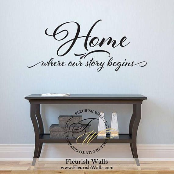 Home Where Our Story Begins Vinyl Wall Decal Home Quote Wall