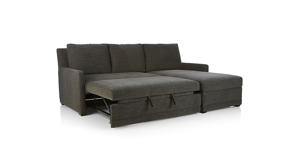 Reston 2-Piece Right Arm Chaise Trundle Sleeper Sectional Sofa ...