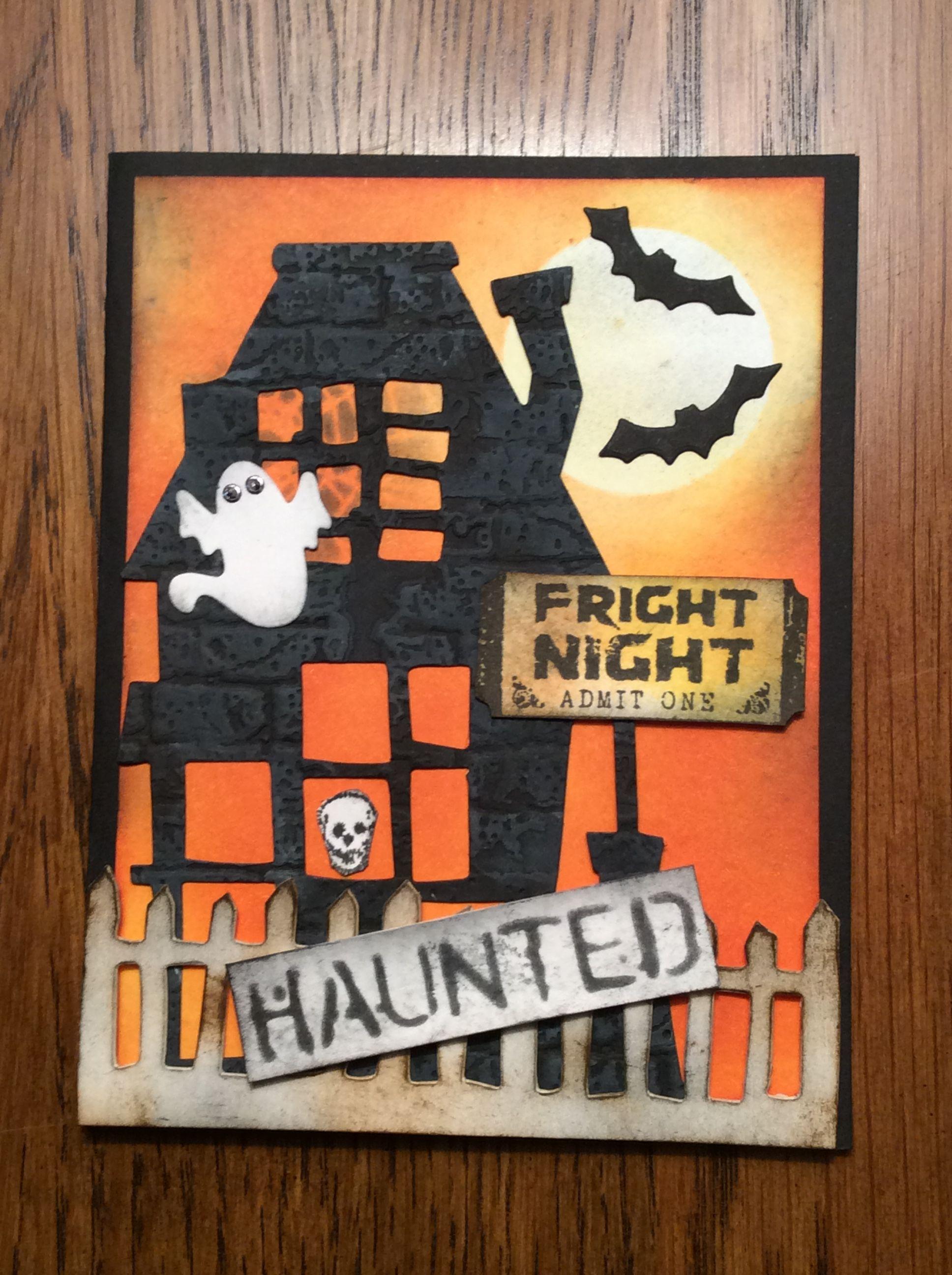 2016 halloween card using tim holtz dies halloween cards