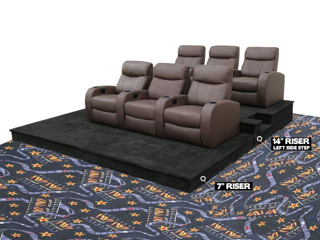 Leather stadium seat for a home theater ideas for future - Home theater stadium seating design ...