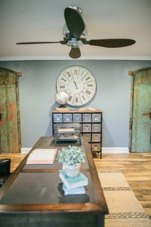 FixerUpper Magnolia Homes Galvanized Clock   Oversized Clock W/roman  Numerals