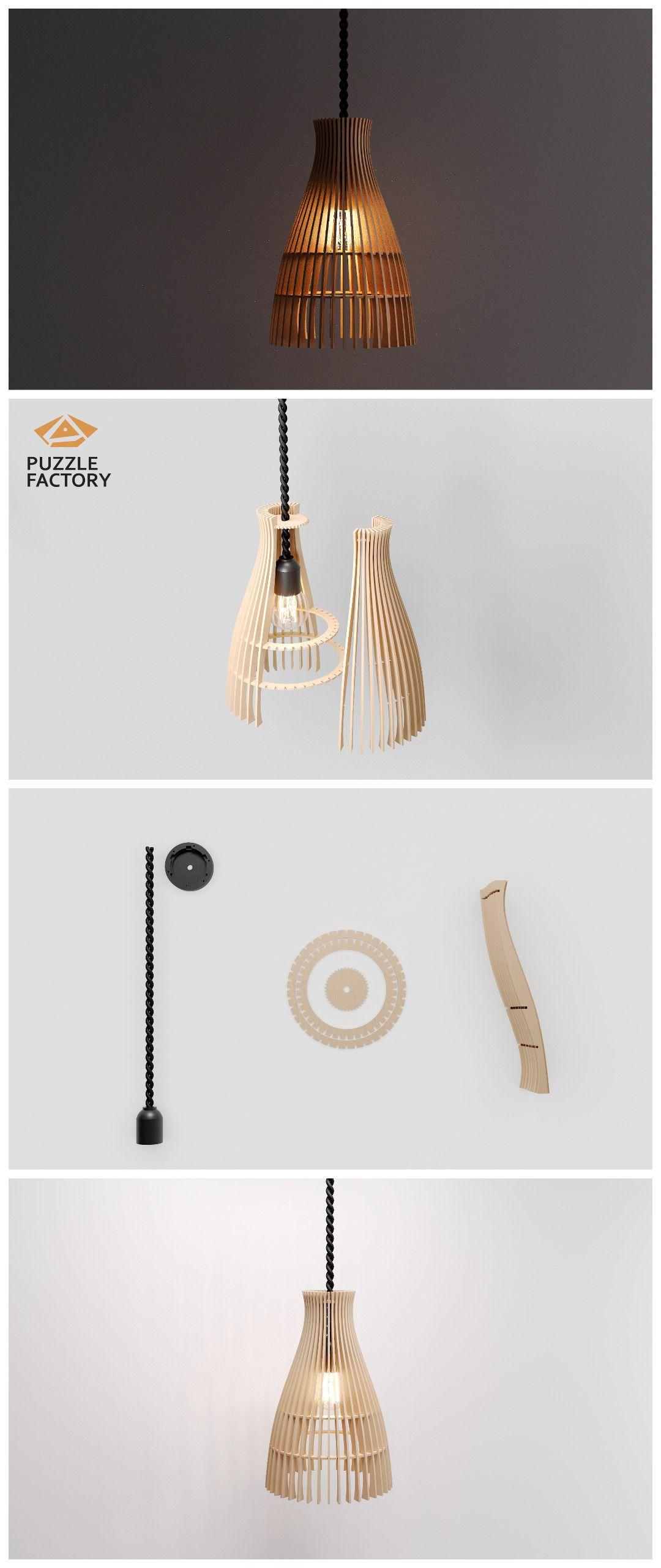 Wood Pendant Light Marimba Modern Chandelier Lighting