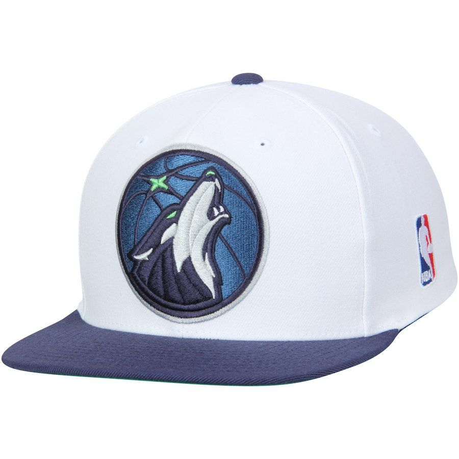 size 40 d5ae4 903d5 Men s Minnesota Timberwolves Mitchell   Ness White Blue XL Team Logo  Two-Tone Adjustable Snapback Hat, Your Price   25.99