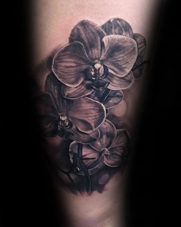 70 orchid tattoos for men timeless flower design ideas flowers pinterest orchid tattoo. Black Bedroom Furniture Sets. Home Design Ideas