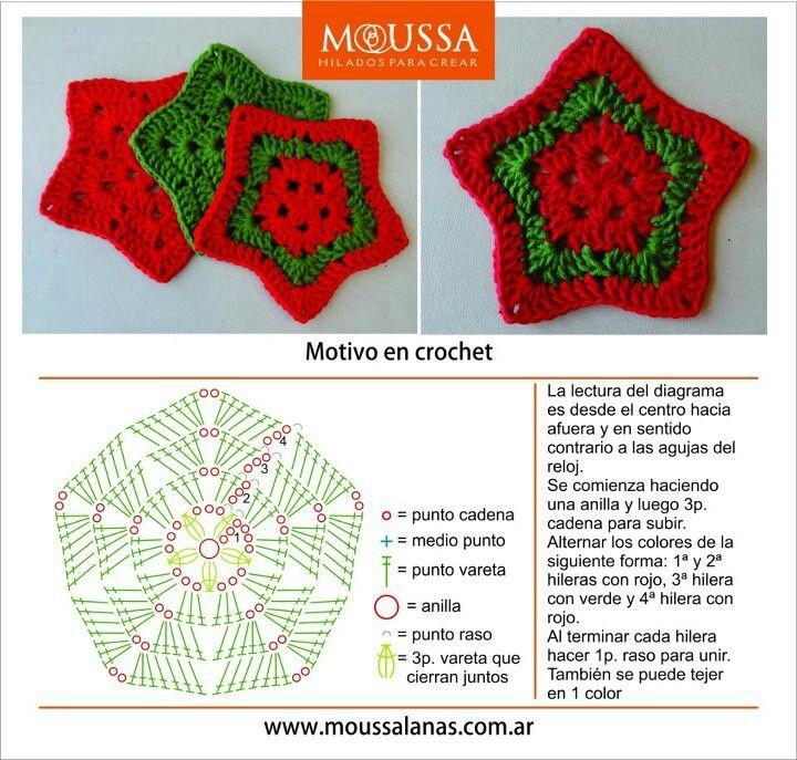 Estrella en crochet | Christmas | Pinterest | Estrella, Navidad y ...