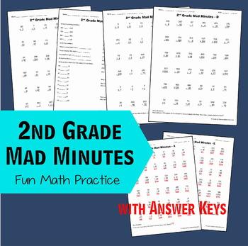 2nd Grade Math Mad Minutes 2nd Grade Math Fun Math Math