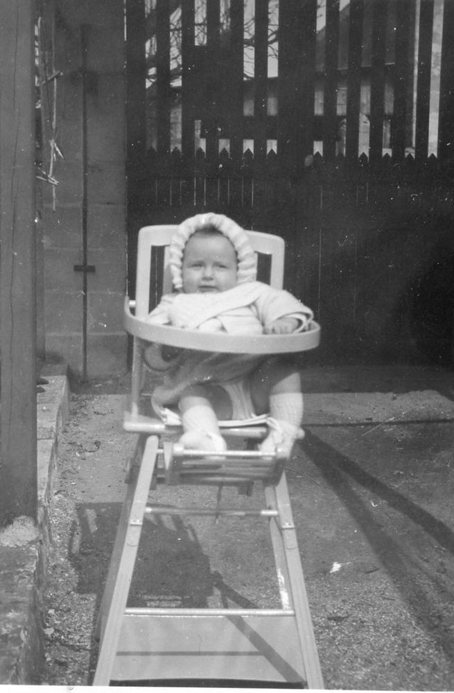 Child Chaise Photo Vintage Ancienne Enfant Snapshot Baby Haute Bébé dBeCWxoQr