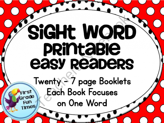 sight word printable easy readers small group instruction 20 books from first grade fun times