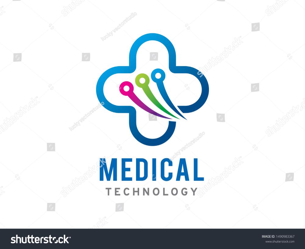 Medical Technology Logo Symbol Icon Template Stock Vector