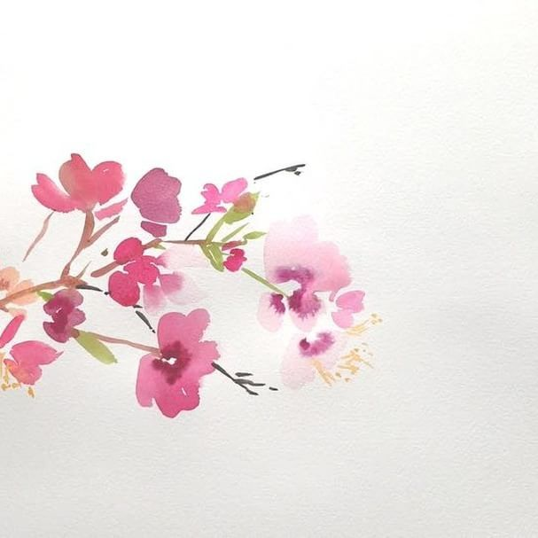 You guys! Watch this #cherryblossom watercolor come to life ☺️I love how time-lapses capture exactly what I love most about this medium- the immediacy of how the paints and water blend together pulls me in every. time. Only wish I could paint this quickly in real life #watercolor #yaochengdesign #paintedcherryblossoms #watercolorprocess #timelapsepainting #watchyaopaint