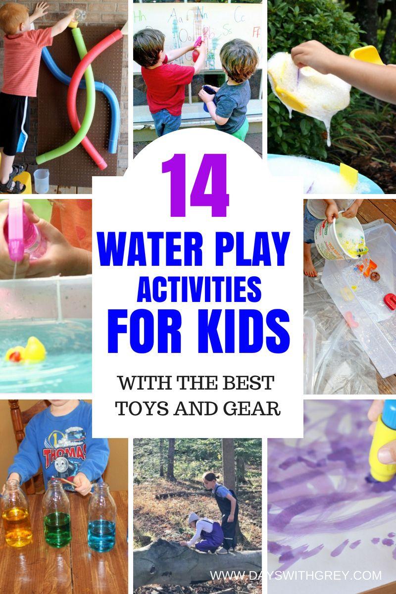19+ Super Fun Water Games for Kids  Water play activities, Water