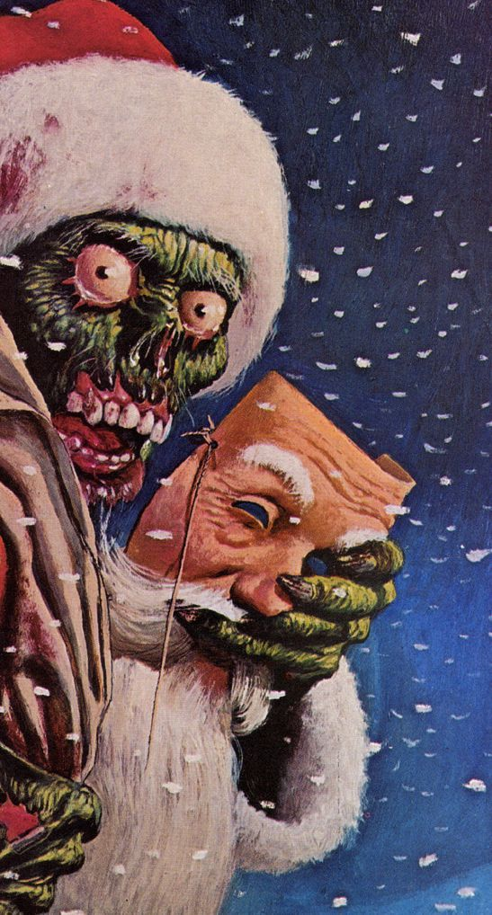 Horror Weihnachtsbilder.Creepy Santa Christmas Time Happy Hippie Christmas Happy